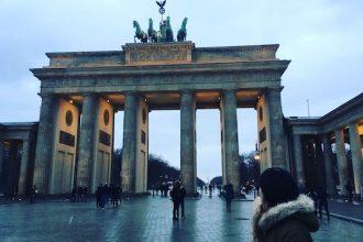 At the Brandendburg Gate in my Travel to Berlin