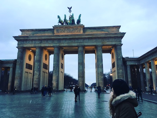 At the Brandendburg Gate in my Travel to Berlin