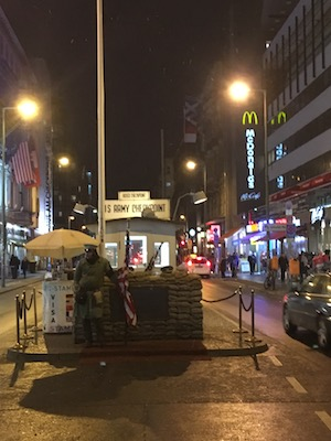 American Soldier at the Checkpoint Charlie
