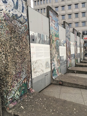 Fragments of the Berlin Wall in Postdamer Platz