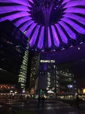 Sony Centre in Postdamer Platz