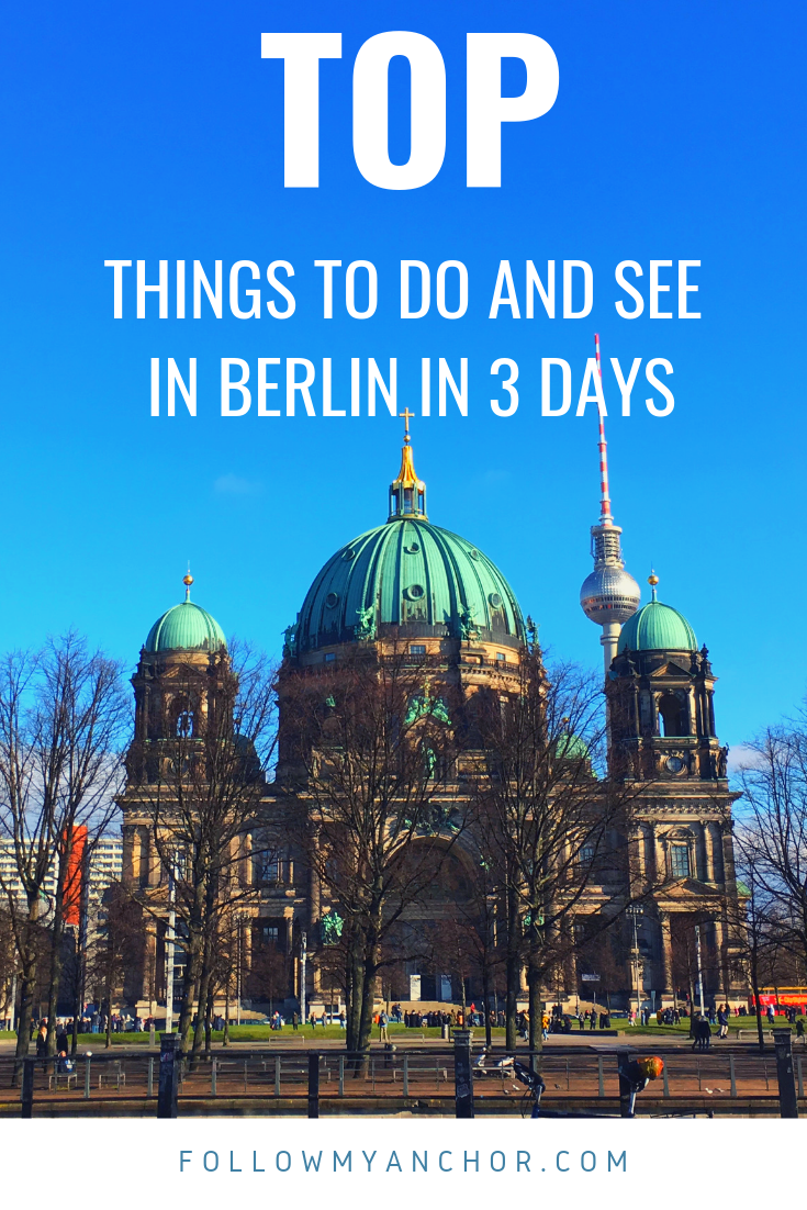 Top Things to Do and See in Berlin in 3 Days. Climb the dome of the Reichstag, look at the Brandenburg Gate, walk along the longest section of the Berlin Wall, visit the stadium where they played the most spectacular Olympic games in the history. You can do this and much more on your weekend in Berlin. Check out this article before you travel to Berlin and read this amazing 3 days itinerary through the highlights of the capital city of Germany. #Berlin #Berlin3Days #TravelToBerlin #TravelBlog