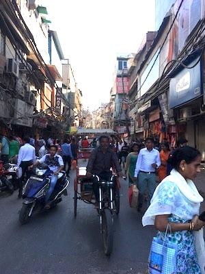 Mercato di Chandni Chowk a Delhi