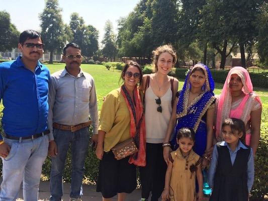 Con una famiglia indiana al Forte Rosso di Delhi