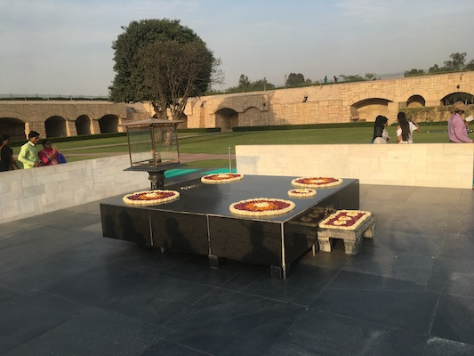 Raj Ghat the Gandhi Memorial in Delhi