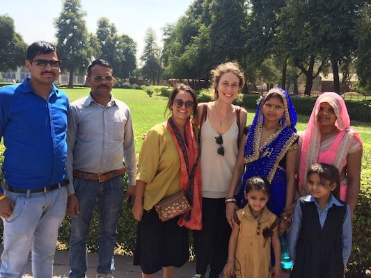 With an Indian family at the Red Fort in Delhi