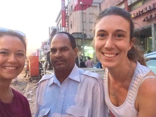Selfie con Vishnu a Delhi