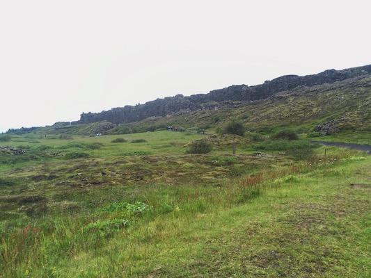 Ocean Ridge at Thingvellir Park in Iceland