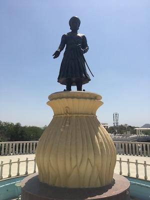 Statua del Maharana Pratap del Moti Magri di Udaipur