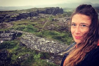 At Thingvellir Park in my travel to Iceland