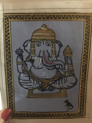 My painting of Ganesha at the art class in Udaipur