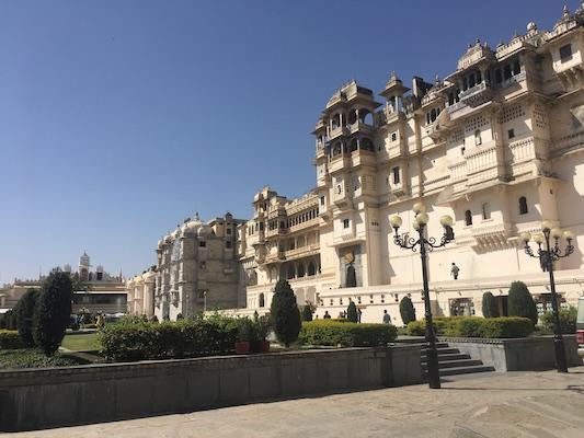Esterno del City Palace di Udaipur