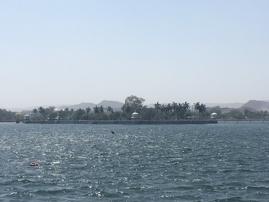 View of the Lake Fateh Sagar in Udaipur