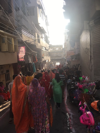 Indians celebrating Gangaur Festival in Udaipur