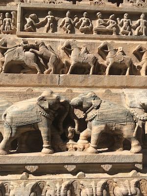 Carvings of Jagdish Mandir in Udaipur
