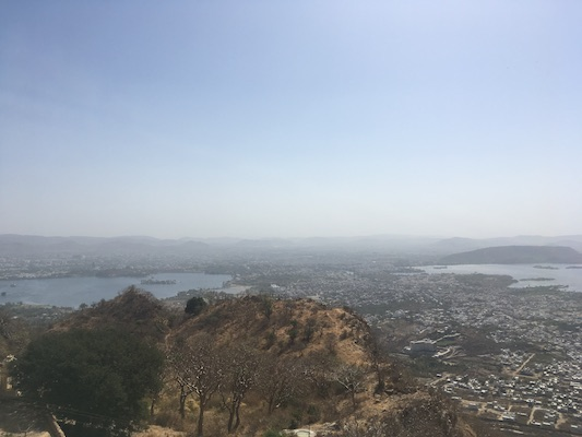 View over Udaipur from the Monsoon Palace