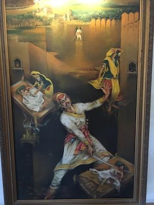 Dipinto al Museo di Moti Magri di Udaipur