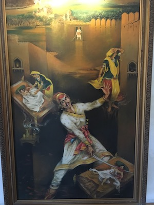 Painting in the museum of Moti Magri in Udaipur