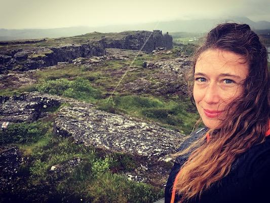 Al Thingvellir Park nel mio viaggio in Islanda