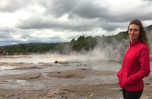 Me at the Geyser Field in one of the day trips from Reykjavik in Iceland