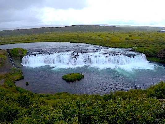 Faxi Waterfall along the Golden Circle in Iceland