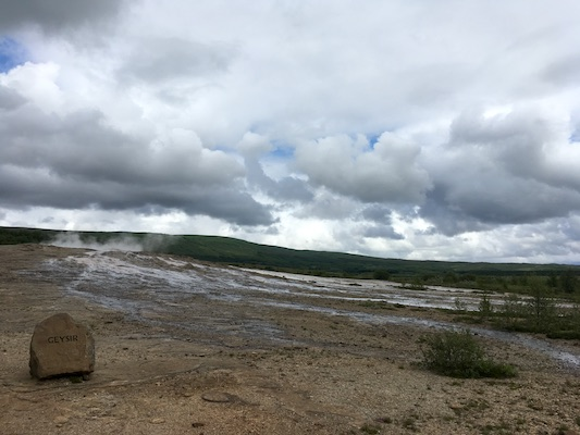 Geysir along the Golden Circle in Iceland