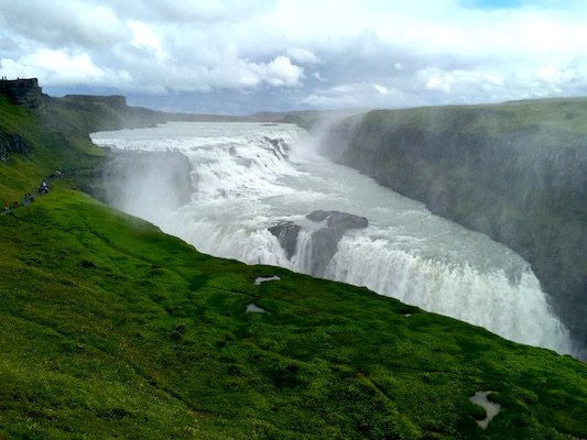 Gullfoss Waterfall along the Golden Circle in Iceland