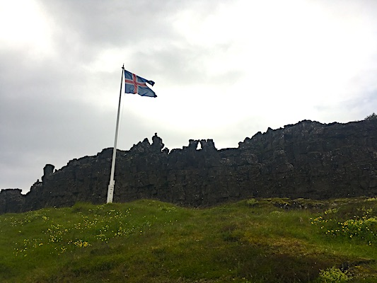 Althing site in Thingvellir Park in Iceland