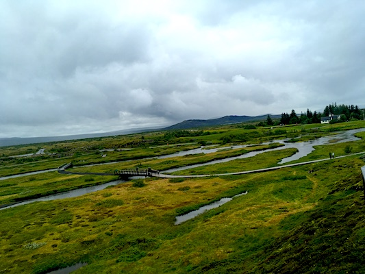 View over Thingvellir Park in Iceland