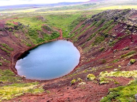 Cratere Kerid lungo il Circolo d'oro in Islanda