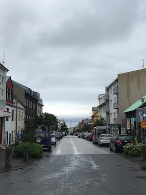 Skolavordustigur street in Reykjavik