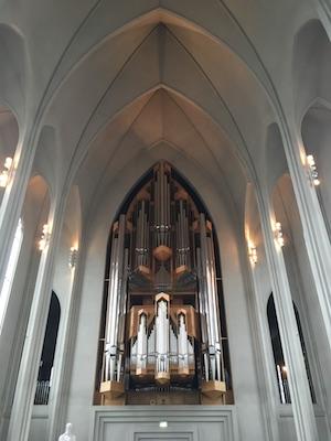 Klais Organ inside Hallgrimskirkja in Reykjavik