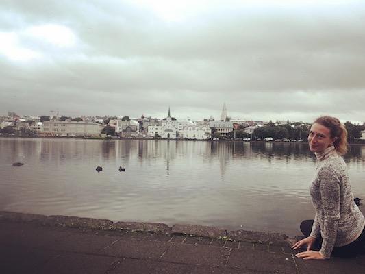 Me at Tjornin lake while visiting Reykjavik in One Day