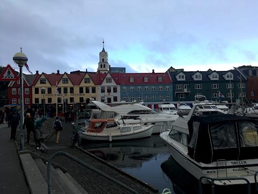 The harbor of Torshavn at the Faroe Islands