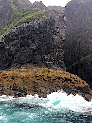 Cliffs on our puffin sighting tour at the Faroe Islands