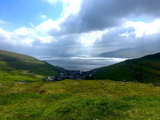 View over the Faroe Islands