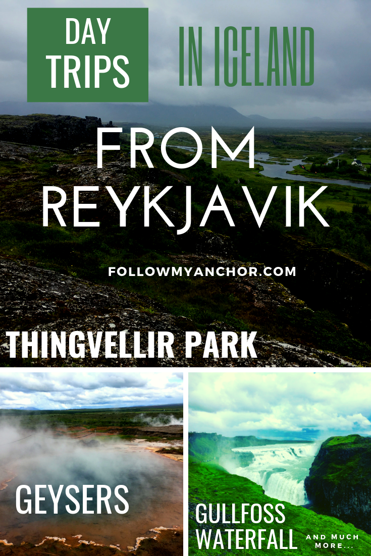 Day Trips in Iceland from Reykjavik | Travel to Iceland and drive around the Golden Circle for an amazing scenery, including the amazing Gullfoss Waterfall, the impressive geysers, and the stunning Thingvellir Park where you can walk between two continental plates. Enjoy the warm water of the Secret Lagoon. Read this article to find out about the amazing destinations in Iceland that you can explore in one day from Reykjavik. #Iceland #TravelBlog