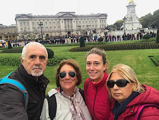 At the Buckingham Palace with my family