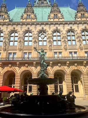 Hygieia Fountain in the Courtyard of Hamburg City Hall
