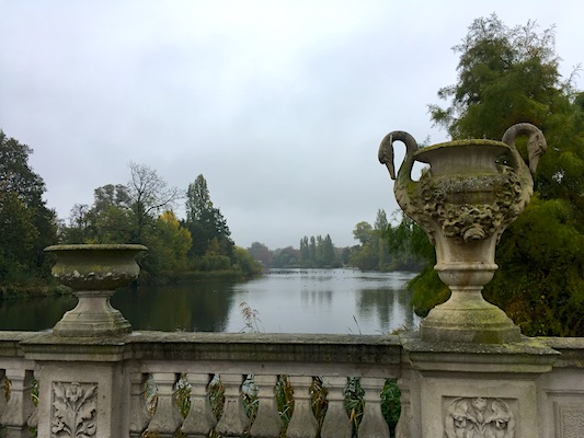 Italian Gardens in Kensington Gardens of London