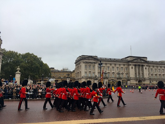 Parade of the Guards of Buckingham Palace in London