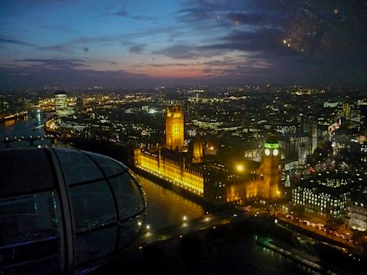 View over Westminster from London Eye