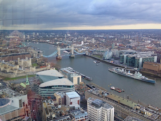 View from Sky Garden in London
