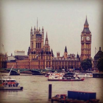 Panorama sul Big Ben di Londra