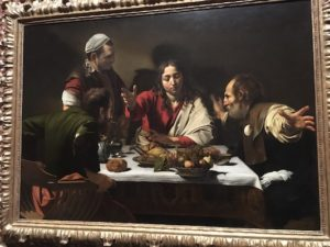Cena in Emmaus di Caravaggio al National Gallery