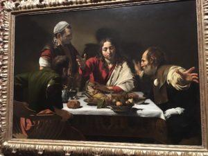 Cena in Emmaus di Caravaggio al National Gallery