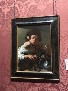 Ragazzo Morso da un Ramarro di Caravaggio al National Gallery