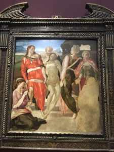The Entombment by Michelangelo n the National Gallery of London