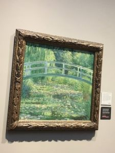 Water-Lily Pond by Monet in the National Gallery of London