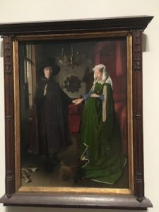 Arnolfini Portrait by Van Eyck n the National Gallery of London